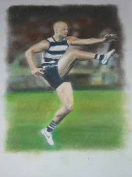 Garry Ablett - Pastel drawing