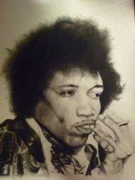 Jimi Hendrix - Charcoal drawing