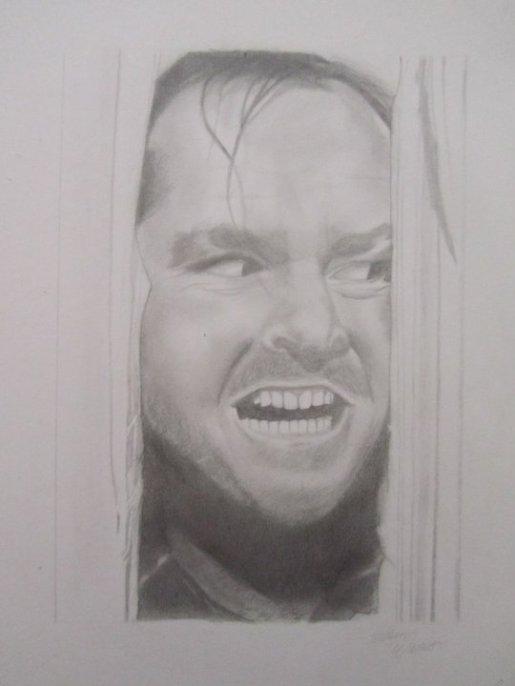Jack Nicholson / The shining - graphite pencils