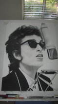 Bob Dylan - Charcoal drawing