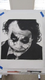 Heath Ledger - Part 3 of the joker series - Charcoal drawing