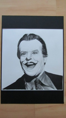 Jack Nicholson - Part 2 of the Joker series - Charcoal drawing