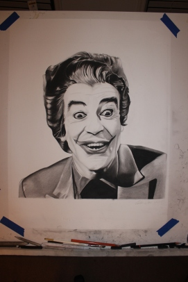 Cesar Romero - Part 1 of the joker series - Charcoal drawing