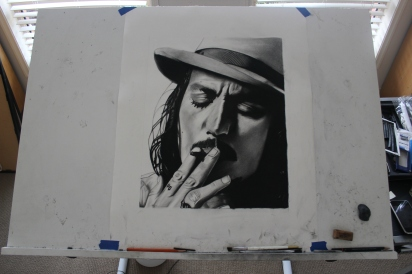Johnny Depp - Charcoal drawing