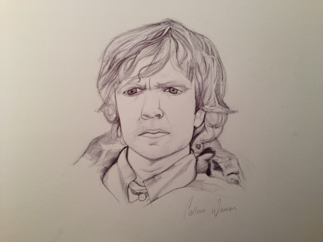 Quick Tyrion Lannister ball point pen sketch