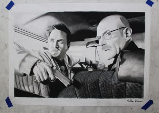 Breaking Bad - Charcoal drawing