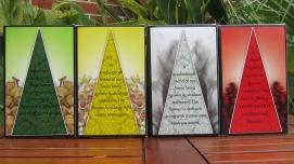 Tea packaging range back panels