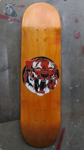 Mock up stencil of graphic design for Elan Skateboards