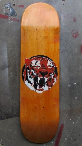 Mock up stencil of graphic design for Elan Skateboards