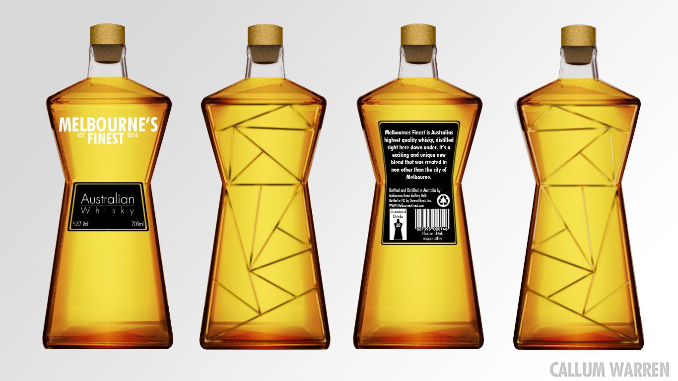whisky bottle design callum warren. Black Bedroom Furniture Sets. Home Design Ideas