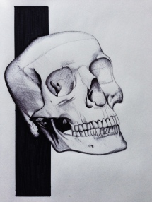 Skull sketchbook piece