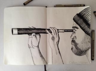 Double page sketchbook spread