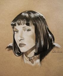 Portrait practice on Mia Wallce